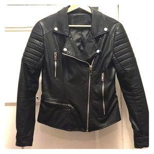 Moto pleather jacket